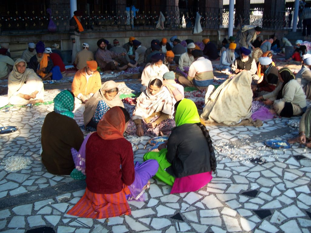 Langar in the Golden Temple of Amritsar